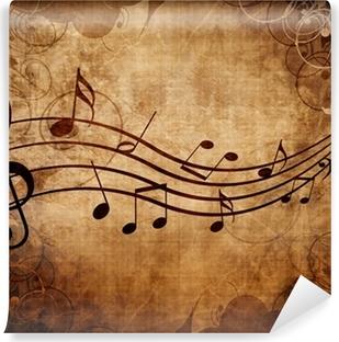 Selbstklebende Fototapete Alte Musik Blatt