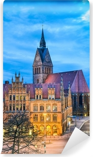 Selbstklebende Fototapete Altes Rathaus und Marktkirche in Hannover, Deutschland