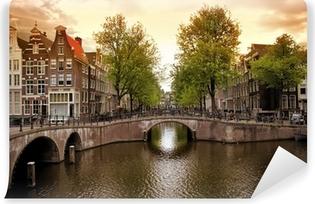 Selbstklebende Fototapete Amsterdamer Grachten