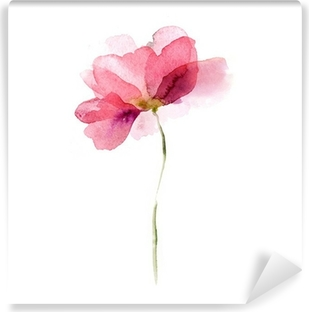 Selbstklebende Fototapete Aquarell Blumen