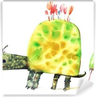 Selbstklebende Fototapete Aquarell Schildkröte