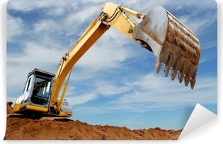 Selbstklebende Fototapete Bagger Lader im Sandkasten