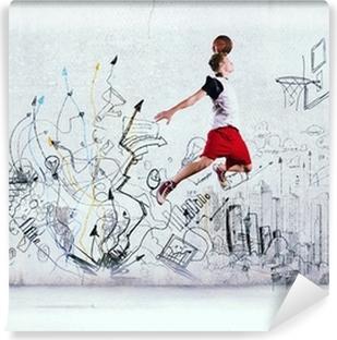 Selbstklebende Fototapete Basketball-Spieler