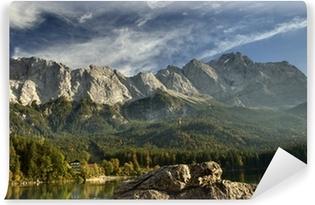 Selbstklebende Fototapete Blick vom Eibsee zur Zugspitze