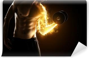 Selbstklebende Fototapete Brennende Muskeln