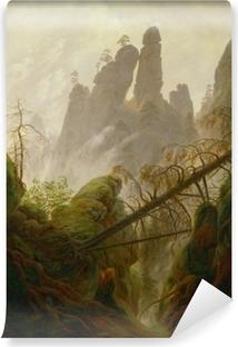 Selbstklebende Fototapete Caspar David Friedrich - Felsenlandschaft im Elbsandsteingebirge