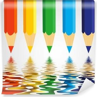 Selbstklebende Fototapete Colored pencils