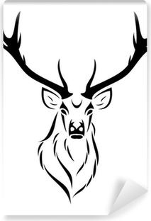 Selbstklebende Fototapete Deer isoliert