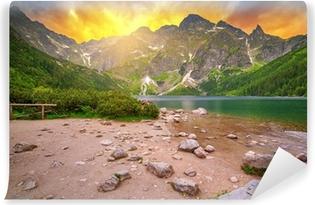Selbstklebende Fototapete Die Tatra-Berge bei Sonnenuntergang