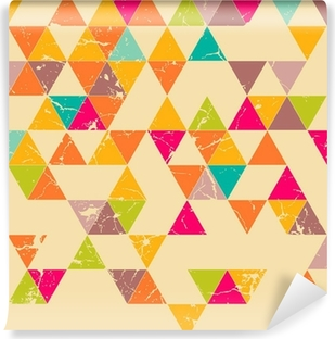 Selbstklebende Fototapete Dreiecke Grunge nahtlose Muster