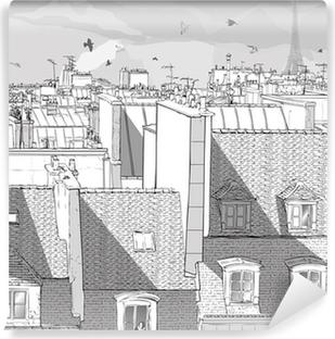 Selbstklebende Fototapete Frankreich - Paris Dächern