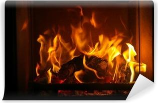 Fototapete Kaminfeuer aufkleber flamme mit dem schwarzen hintergrund pixers wir leben