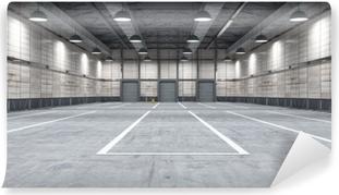 Selbstklebende Fototapete Großes modernes Lagerhaus mit einigen Waren