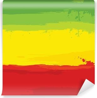 Selbstklebende Fototapete Grunge-Hintergrund mit Flagge von Äthiopien
