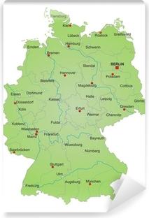 Selbstklebende Fototapete Karte Deutschland vektor