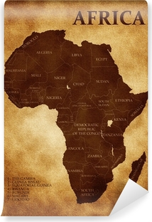 Selbstklebende Fototapete Karte von Afrika