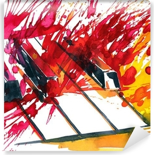 Selbstklebende Fototapete Klavier