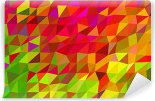 Selbstklebende Fototapete Low-Poly-abstrakten Hintergrund im Herbst lebendigen Farben.