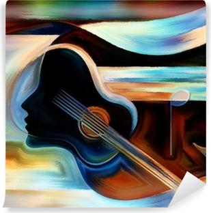Selbstklebende Fototapete Material der Musik