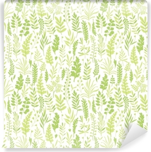 Selbstklebende Fototapete Muster mit Blättern