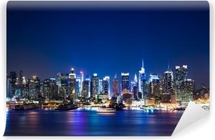 Selbstklebende Fototapete New york manhattan skyline