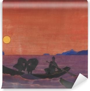 Selbstklebende Fototapete Nicholas Roerich - Und wir fischen weiter