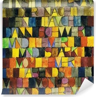 Selbstklebende Fototapete Paul Klee - Einst dem Grau der Nacht enttaucht