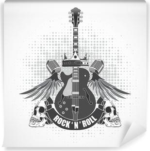 Selbstklebende Fototapete Rock n roll symbol