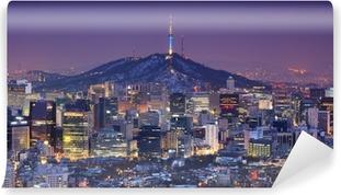 Selbstklebende Fototapete Seoul Skyline