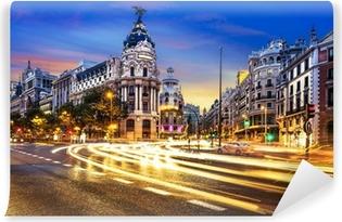Selbstklebende Fototapete Stadtzentrum von Madrid, Gran Vis Spanien