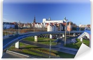 Selbstklebende Fototapete Stettin - der Weg von der Burg