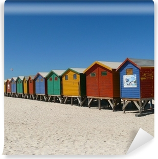 Selbstklebende Fototapete Strandhäuser Muizenberg