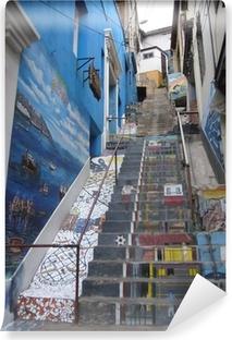Selbstklebende Fototapete Treppe in Valparaiso