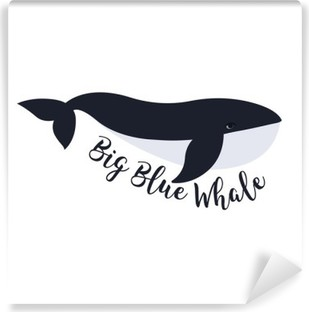 Selbstklebende Fototapete Vektor-Illustration der Wal. Symbol-Design