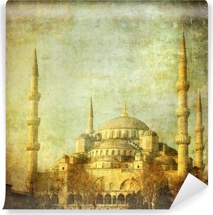 Selbstklebende Fototapete Vintage Bild von der Blauen Moschee, Istambul