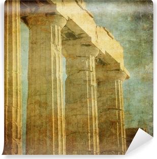 Selbstklebende Fototapete Vintage Bild von griechischen Säulen, Akropolis, Athen, Griechenland