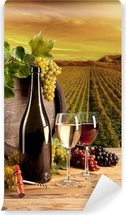 Selbstklebende Fototapete Wein im Weinberg