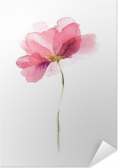Selbstklebendes Poster Aquarell Blumen