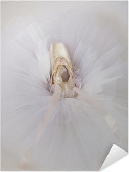 Selbstklebendes Poster Ballettschuhe 1