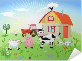 Selbstklebendes Poster Bauernhof-Tiere