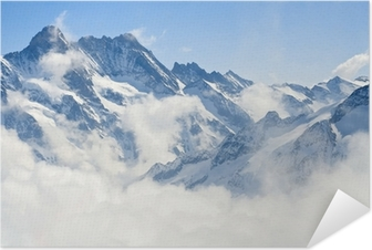 Selbstklebendes Poster Berglandschaft in den Alpen