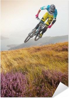 Selbstklebendes Poster Biker & lago di Como
