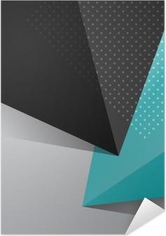 Selbstklebendes Poster Blau und Schwarz abstrakten Design Hintergrund