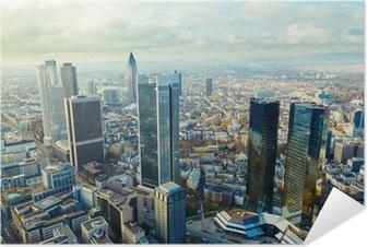 Selbstklebendes Poster Blick auf die Frankfurter Hochhäuser