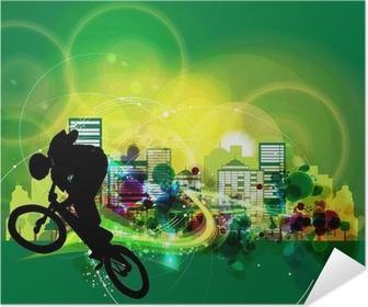 Selbstklebendes Poster BMX Radfahrer
