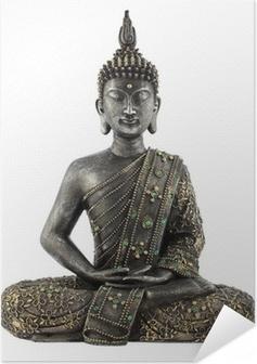 Selbstklebendes Poster Bouddha statue de bronze zen