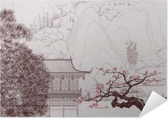 Selbstklebendes Poster Chinesische Landschaft