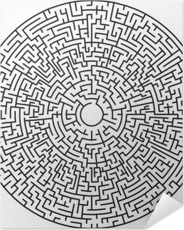 Selbstklebendes Poster Circular maze sehr schwierig