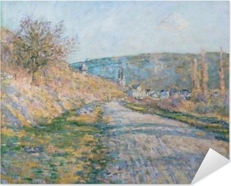 Selbstklebendes Poster Claude Monet - Der Weg nach Vétheuil