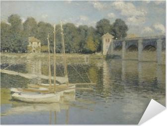 Selbstklebendes Poster Claude Monet - Die Eisenbahnbrücke von Argenteuil